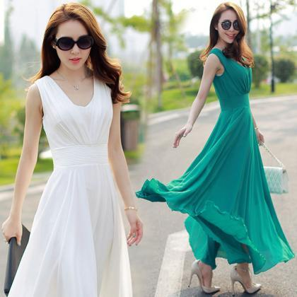 Sexy Women Summer Boho Long Maxi Ev..