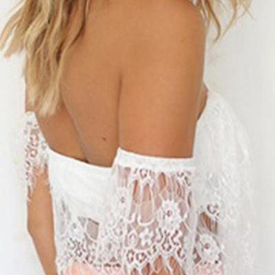 Sexy Off The Shoulder Hollow-out La..