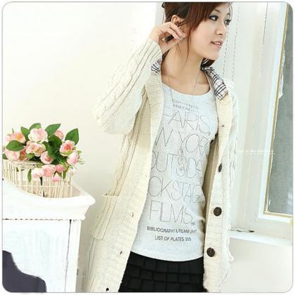 New Women Long Sleeve Knitted Cardi..