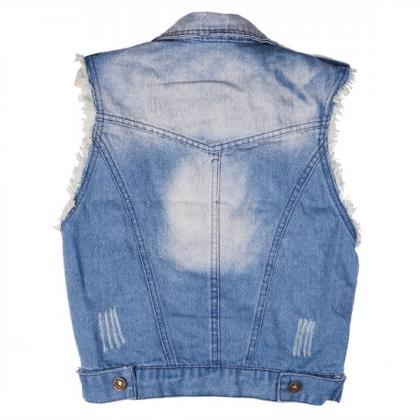 Women's Retro Washed Sleeveless Per..