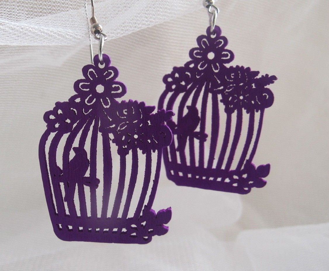 NEW FASHION DESIGN WOMEN EARRINGS PURPLE