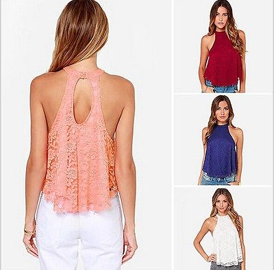 Women's Sexy Spaghetti Strap Sleeveless exposed T Shirt Vest Lady Summer Blouse