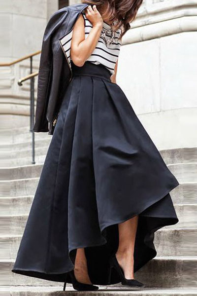 Black High Waisted A Line Skirt - Dress Ala