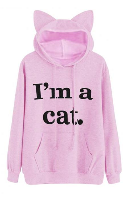 I'M A Cat Harajuku Women Sweatshirts Kawaii 4 Colors