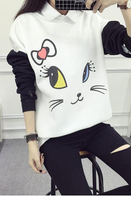 Lovely Cartoon Hoodies Kawaii