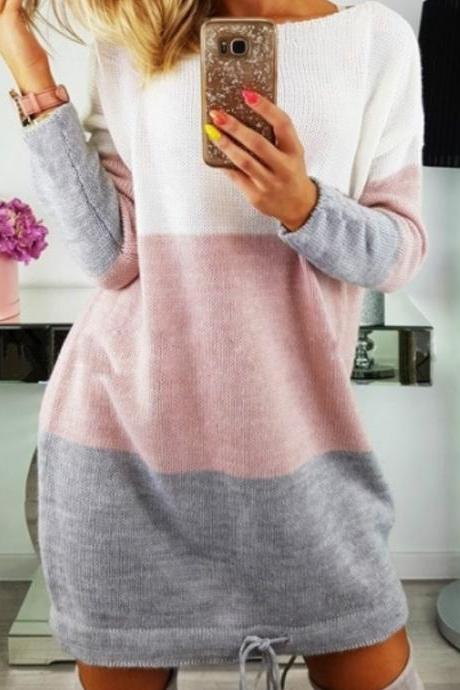 Sexy Patchwork Women Sweater