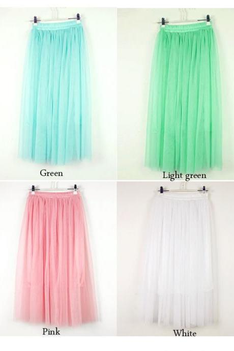 New Women's Fashion Princess Fairy Style Voile Tulle Skirt Bouffant Puffy Skirt DL