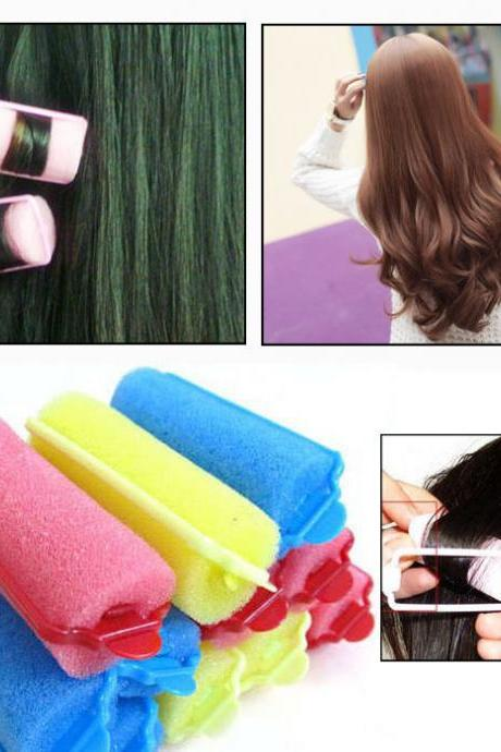 10PCS Curler Makers Foam Bendy Soft Twist Curls Tool DIY Styling Hair Rollers