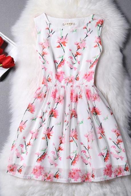 2016 New Summer Fashion Sweet Women Dress Vestidos Casual Clothing Female Tropical Vintage Mini Dress FREE SHIPPING ALI