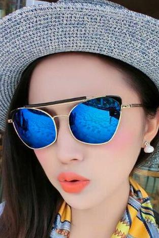 Fashion Blue PC Sunglasses Women HIT!!