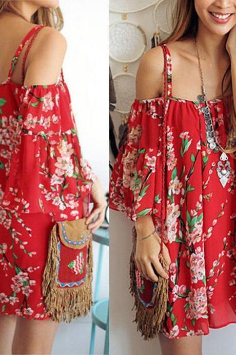2016 BOHO SEXY WOMEN SHORT DRESS