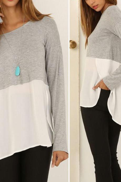 Loose One Shoulder Long Blouse