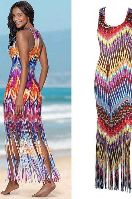 Sexy Dress Boho Summer Beach