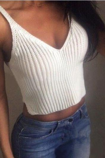 Women Crochet Bralette Crop Top