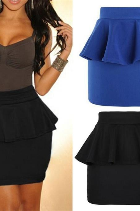 Hot Peplum Skirt 3 Color