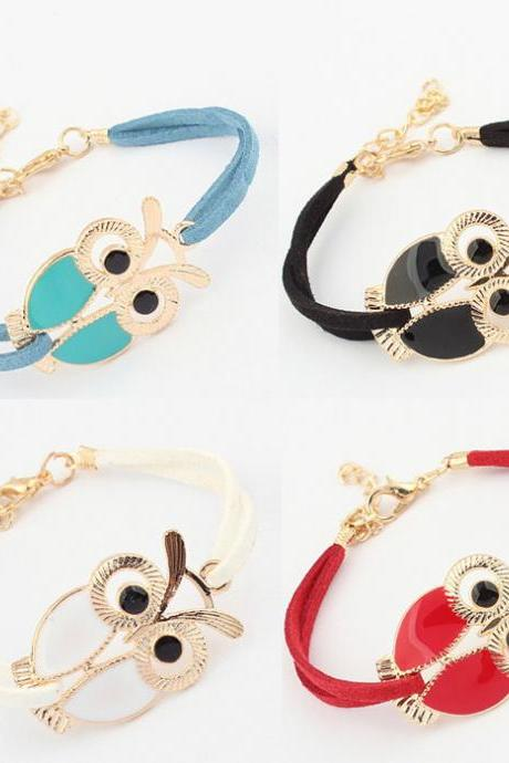 Owl Faux Leather Bracelets