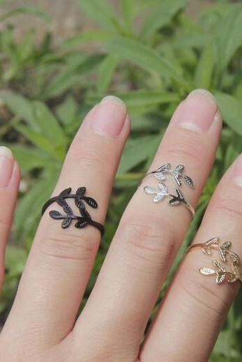 Leaf finger Rings