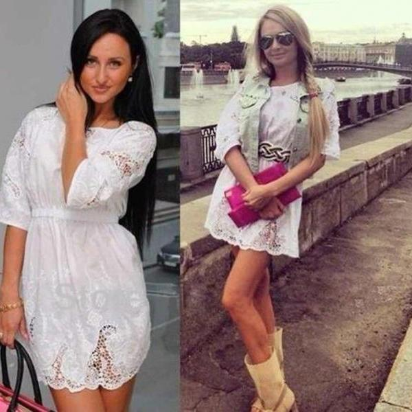 Sexy Women Summer Lace Short Sleeve Formal Evening Party Cocktail Mini Dress