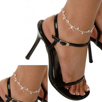 Women Silver Foot Chain Anklet Ankle Bracelet Barefoot Sandal Beach Jewelry